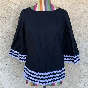 Talbots Petite Bell Sleeve Blouse